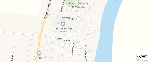 Школьная улица на карте поселка Шипицыно с номерами домов
