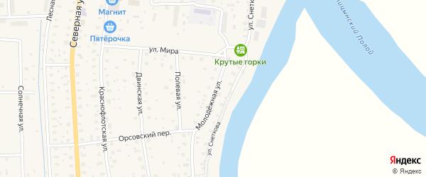 Молодежная улица на карте поселка Шипицыно с номерами домов
