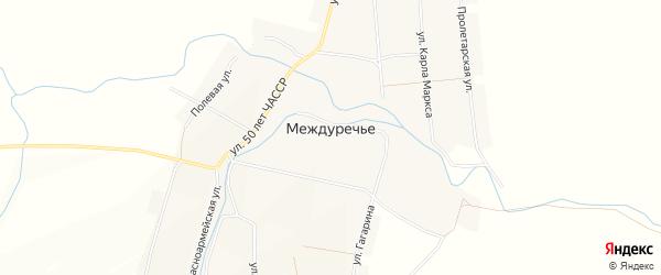 Карта села Междуречья в Чувашии с улицами и номерами домов