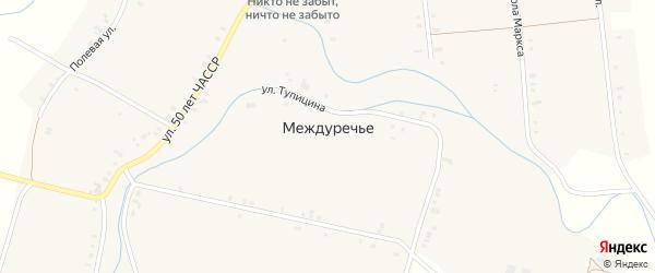 Улица Ворошилова на карте села Междуречья с номерами домов