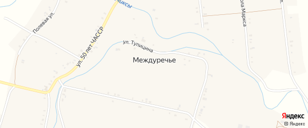 Улица Калинина на карте села Междуречья с номерами домов
