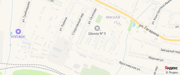 1-й Школьный тупик на карте Алатыря с номерами домов