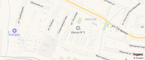 Школьный проезд на карте Алатыря с номерами домов