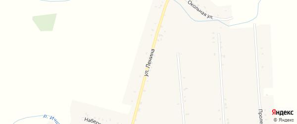 Улица Ленина на карте села Междуречья с номерами домов