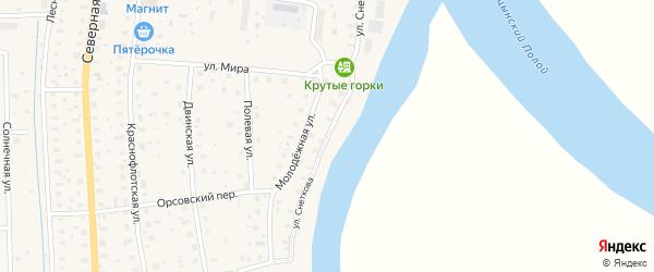 Улица Снеткова на карте поселка Шипицыно с номерами домов