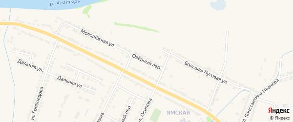 Озерный переулок на карте Алатыря с номерами домов