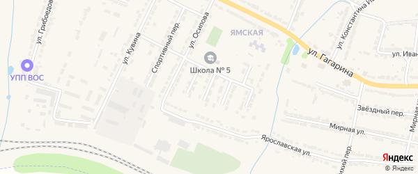 2-й Школьный тупик на карте Алатыря с номерами домов