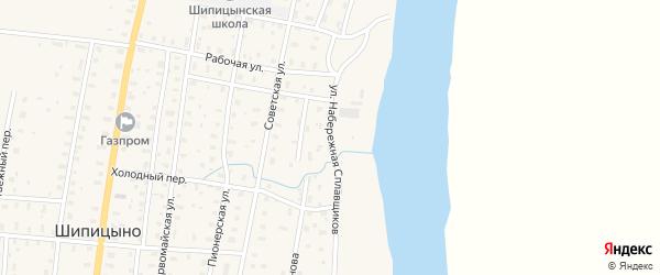 Набережная улица на карте поселка Шипицыно с номерами домов