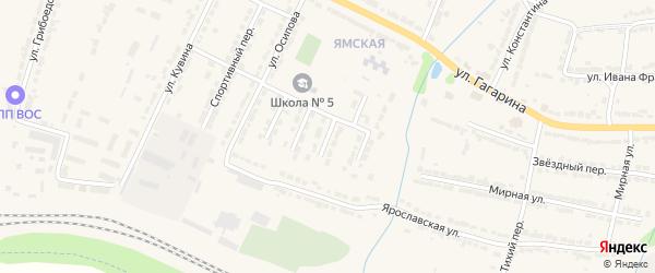 3-й Школьный тупик на карте Алатыря с номерами домов