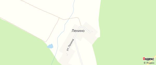 Улица Ленина на карте деревни Ленино с номерами домов