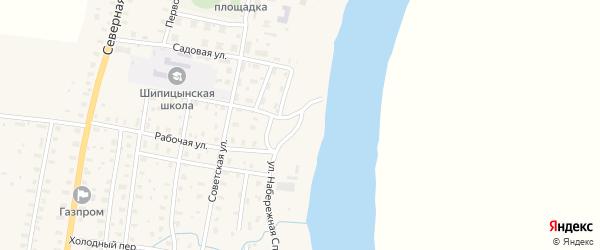 Набережная улица на карте Слободского поселка с номерами домов