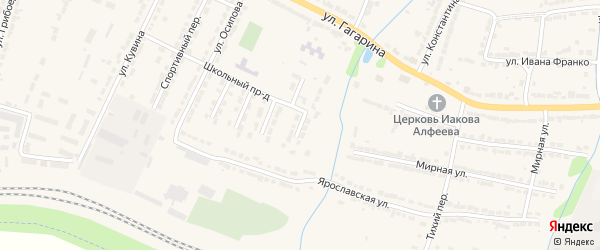 4-й Школьный тупик на карте Алатыря с номерами домов
