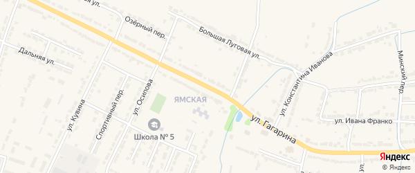 Улица Гагарина на карте Алатыря с номерами домов