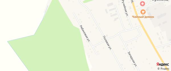 Рябиновая улица на карте деревни Куимихи с номерами домов