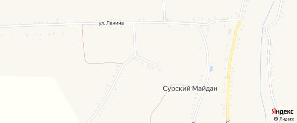 Улица Комарова на карте села Сурского Майдана с номерами домов