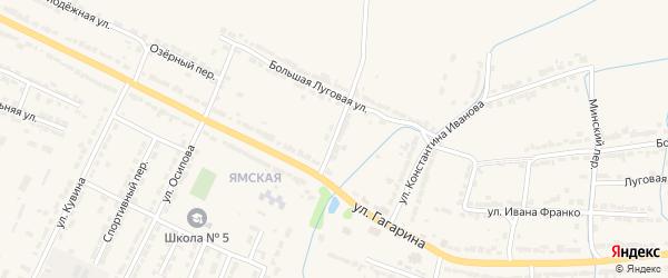 Тургеневский переулок на карте Алатыря с номерами домов