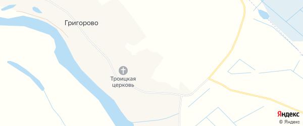 Карта деревни Григорово в Архангельской области с улицами и номерами домов