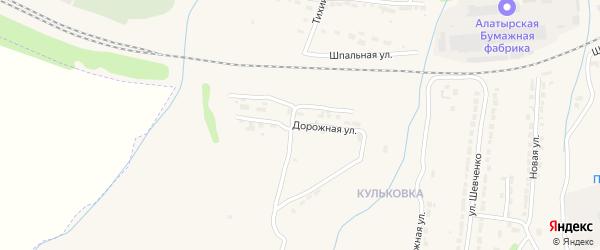 Дорожная улица на карте Алатыря с номерами домов