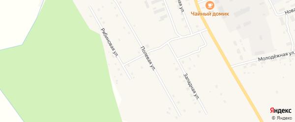 Полевая улица на карте деревни Куимихи с номерами домов