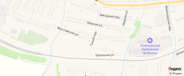 Ярославская улица на карте Алатыря с номерами домов