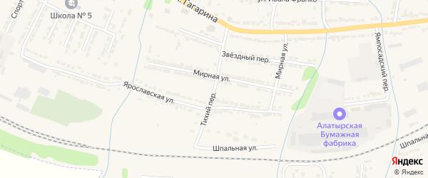 Тихий переулок на карте Алатыря с номерами домов