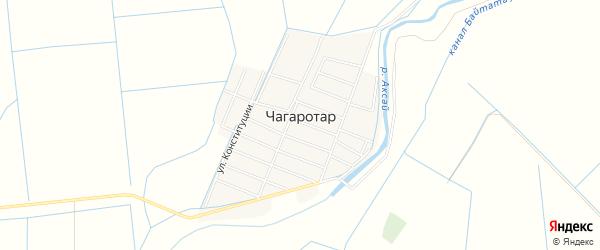 Карта села Чагаротара в Дагестане с улицами и номерами домов