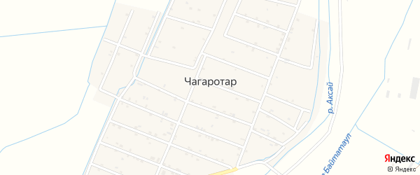Улица К.Атуева на карте села Чагаротара с номерами домов