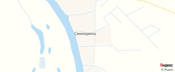 Карта деревни Семиндяихи в Архангельской области с улицами и номерами домов