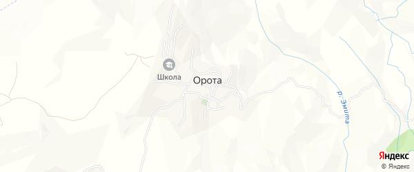 Карта села Ороты в Дагестане с улицами и номерами домов