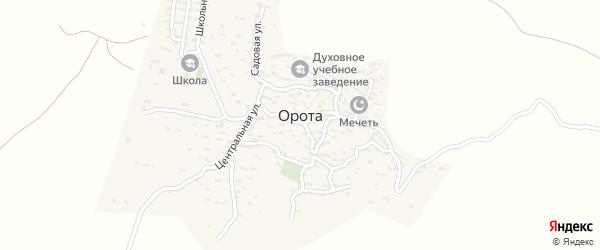 Школьная улица на карте села Ороты с номерами домов