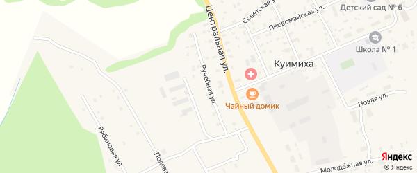 Ручейная улица на карте деревни Куимихи с номерами домов