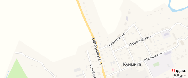 Центральная улица на карте Забелинской деревни с номерами домов