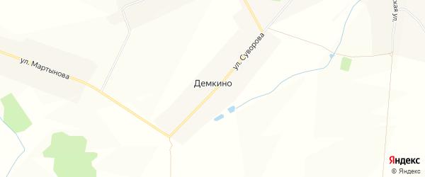 Карта деревни Демкино в Чувашии с улицами и номерами домов