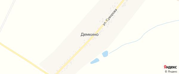 Улица им Суворова на карте деревни Демкино с номерами домов