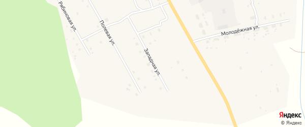 Западная улица на карте деревни Куимихи с номерами домов