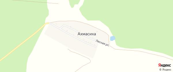 Лесная улица на карте выселков Ахмасихи с номерами домов