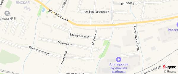 Звездный переулок на карте Алатыря с номерами домов
