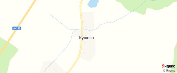 Кушевская улица на карте деревни Кушево с номерами домов