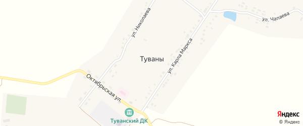 Улица Николаева на карте села Туваны с номерами домов
