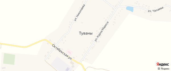 Улица Пушкина на карте села Туваны с номерами домов