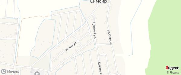 Улица Путина на карте села Симсира с номерами домов