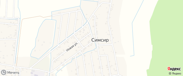 Новая улица на карте села Симсира с номерами домов