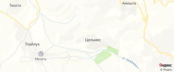 Карта села Цельмеса в Дагестане с улицами и номерами домов