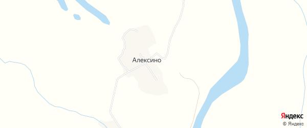 Карта деревни Алексино в Архангельской области с улицами и номерами домов