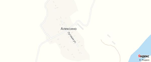 Луговая улица на карте деревни Алексино с номерами домов