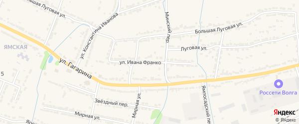 Улица И.Франко на карте Алатыря с номерами домов