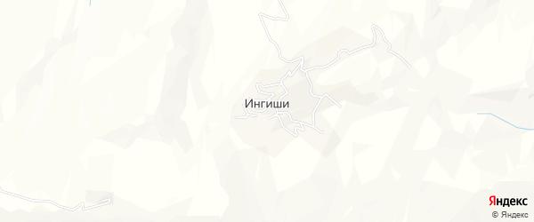 Карта села Ингиши в Дагестане с улицами и номерами домов