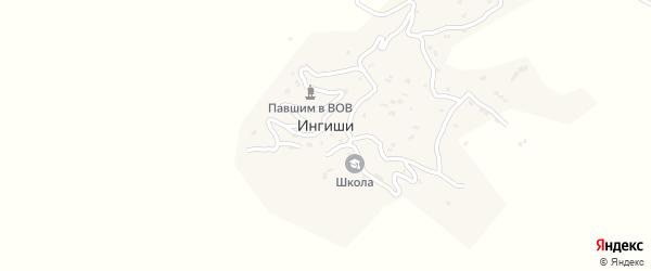 Центральная улица на карте села Ингиши с номерами домов