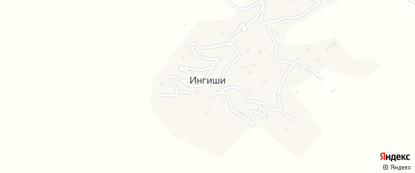 Улица Г.Магомедова на карте села Ингиши с номерами домов