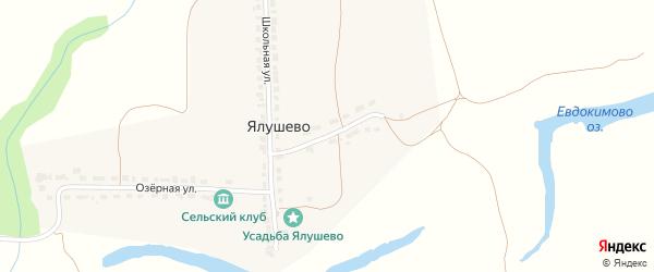 Октябрьская улица на карте деревни Ялушево с номерами домов